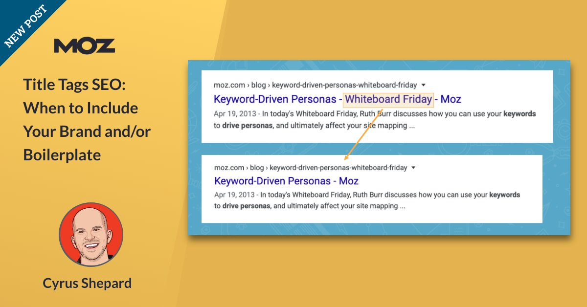 Title Tags SEO: When to Encompass Your Brand and/or Boilerplate