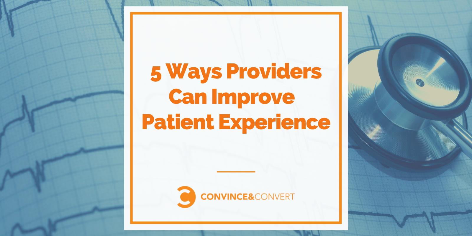 5 Ideas Suppliers Can Toughen Patient Journey